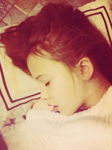 Beautiful girl sleeping